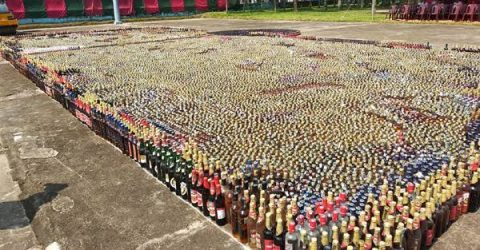 সিলেটে প্রায় ৫ কোটি টাকার মাদকদ্রব্য ধ্বংস করলো -বিজিবি